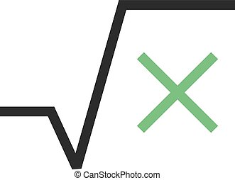 Square Root - Square, root, equation icon vector image. Can...