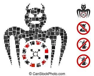 Square Roulette Spectre Devil Icon Vector Mosaic - Collage ...