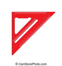 Tape Measure Square And Triangle Vector Graphic | Csp7388399
