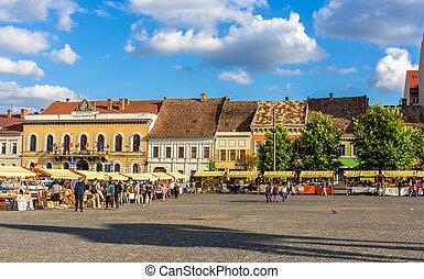 square), rumänien, (union, unirii, piata, cluj-napoca
