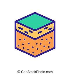 square sample soil icon vector