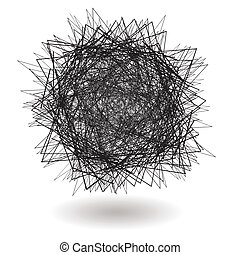 square scribble - angry scribble with sharp lines with drop...