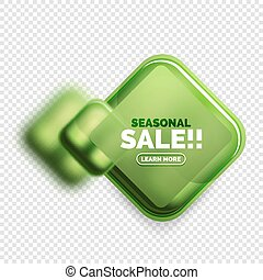Square shape sale button label tag