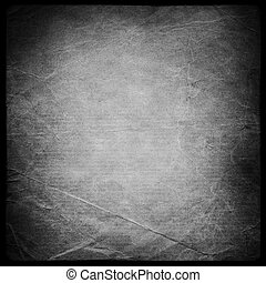 Square shaped grunge background mask. Isolated on black