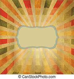 Square Shaped Sunburst With Speech Bubble, Vector...