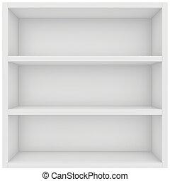square shelf. 3d render on white background