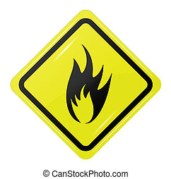 square sign of fire