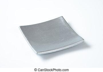 square silver plate