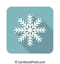 Square snowflake icon
