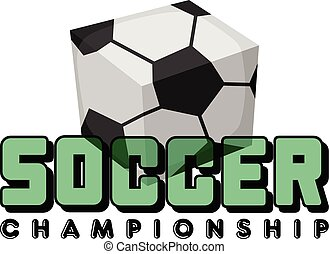 square soccer ball isometric theme vector logo