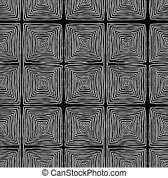 Square spiral seamless pattern