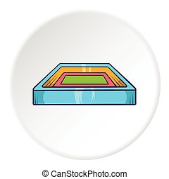 Square stadium icon, cartoon style