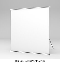 square stand in gray background