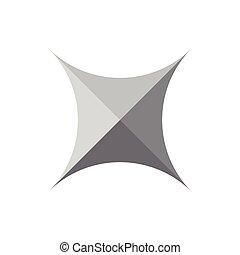 square star shadow design logo vector