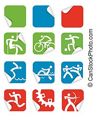 Square Sticker sport icons