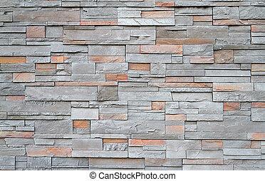 Square stone wall close