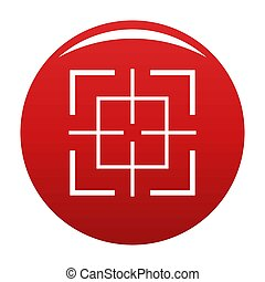 Square target icon red