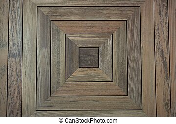 square teak wood background
