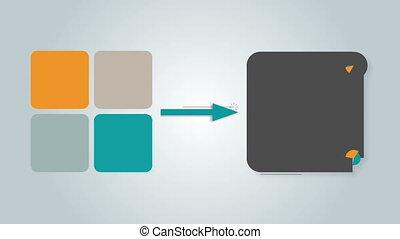 Square text box diagram box 4 - Square text box diagram for...