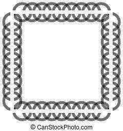 Square tire tracks frame