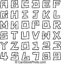 square uppercase font - stoke square uppercase font, art...