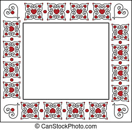 Square Valentine Frame or Tag