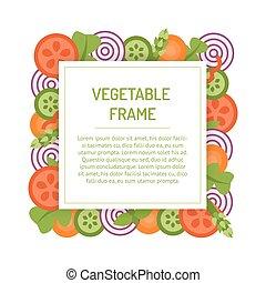 Square vegetable frame