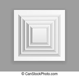 Square ventilation grill. Isolated illustration. Vector.