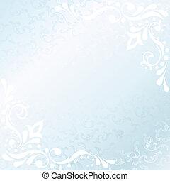 Square Victorian white satin frame