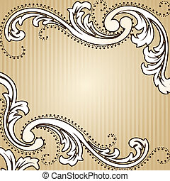 Square vintage sepia background - Elegant sepia tone...