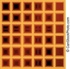 square waffle background