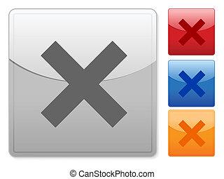square web buttons cancel