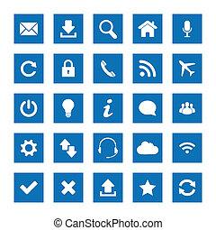 Square web icons