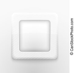 Square white button