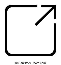 square with arrow interface line style icon
