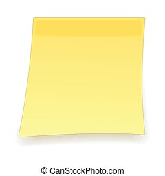 Square yellow sticker cartoon icon