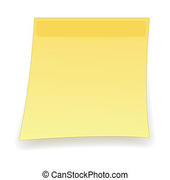 Square yellow sticker cartoon icon