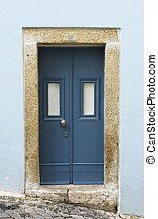 Squared front door - Wooden squared front door