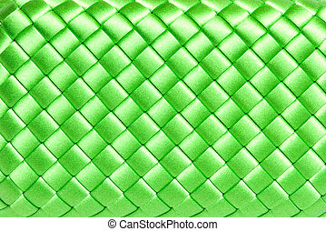 squared green silk texture