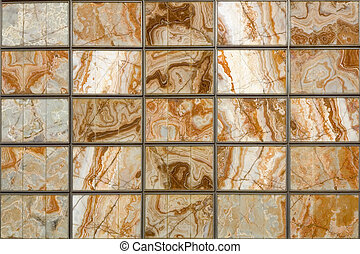Squared marble wall - A decorative squared wall with marble ...
