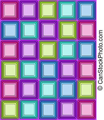 Squared off on Purple - Bright and colorful squares have ...
