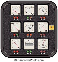 squared panel meters