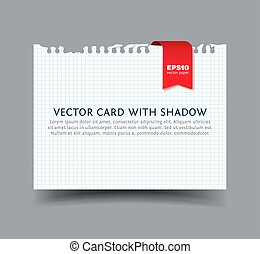 Squared Paper card with shadow
