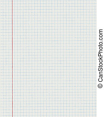 Exercise book in a cage - Squared paper from a notebook in...