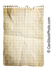 Squared Paper Notepad Page - Single sheet of squared notepad...