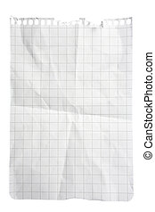 Squared Paper Notepad Sheet - Single sheet of squared...