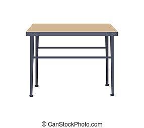 Squared Table Home Interior Vector Illustration