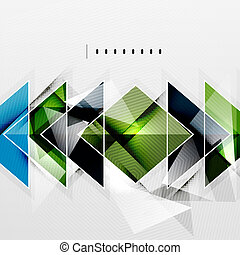 Squares and shadows - tech abstract background - Squares and...