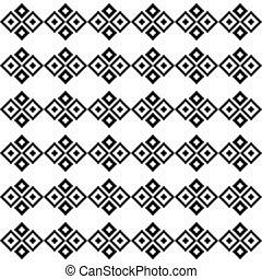 squares., branca, pretas, seamless, textura