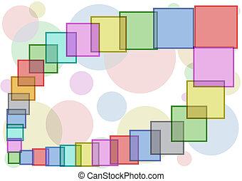 squares., coloré